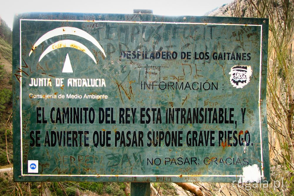 El Caminito del Rey esta intransitable!