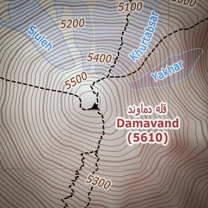 Damavand - map